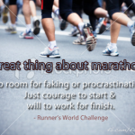Wordless Wednesdays – Marathon Motivation