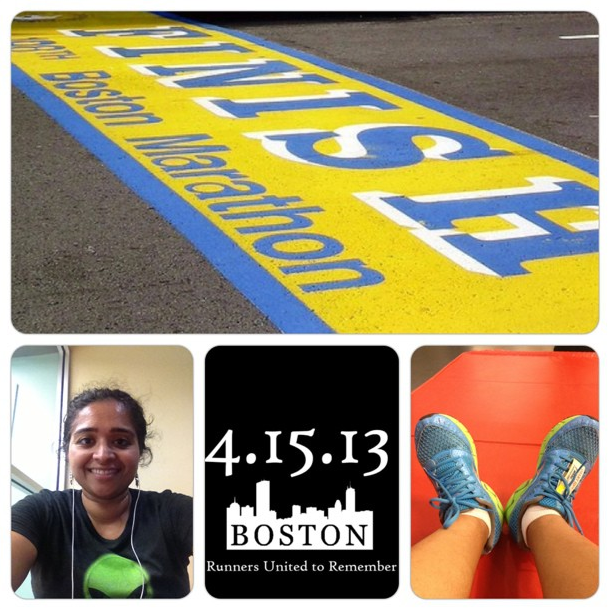 You know your workout has been a little cathartic when sweat and tears mingle to bring out a little smile. #RunForBoston #BostonMarathon #RunnersUnite #WeWillNotBeTerrorized