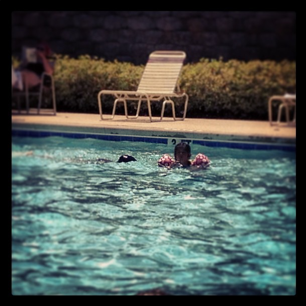 Pool time for kids = alone time for mom