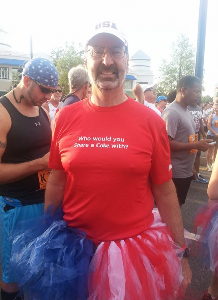 He is a great guy and all but was totally stealing our thunder with his tutu :)