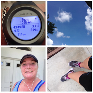 Christine Kellner Lindblad - Got a pre race run in this morning. Ran 2, and did interval the last miles. Second run in Hokas!