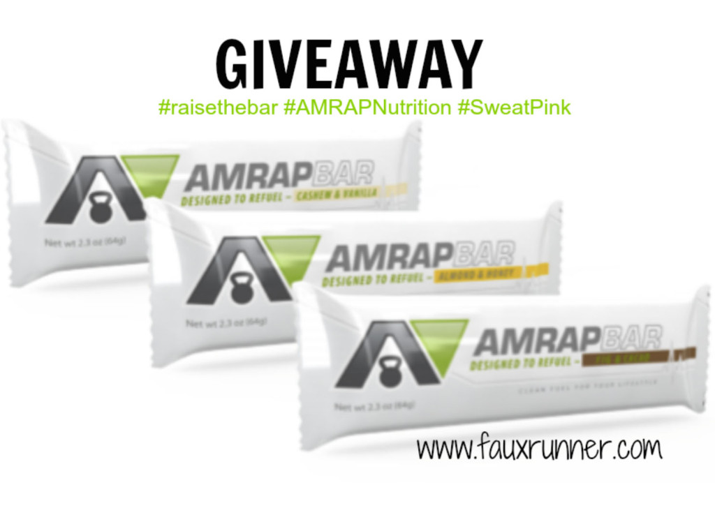 AMRAP Nutrition Bar Giveaway!
