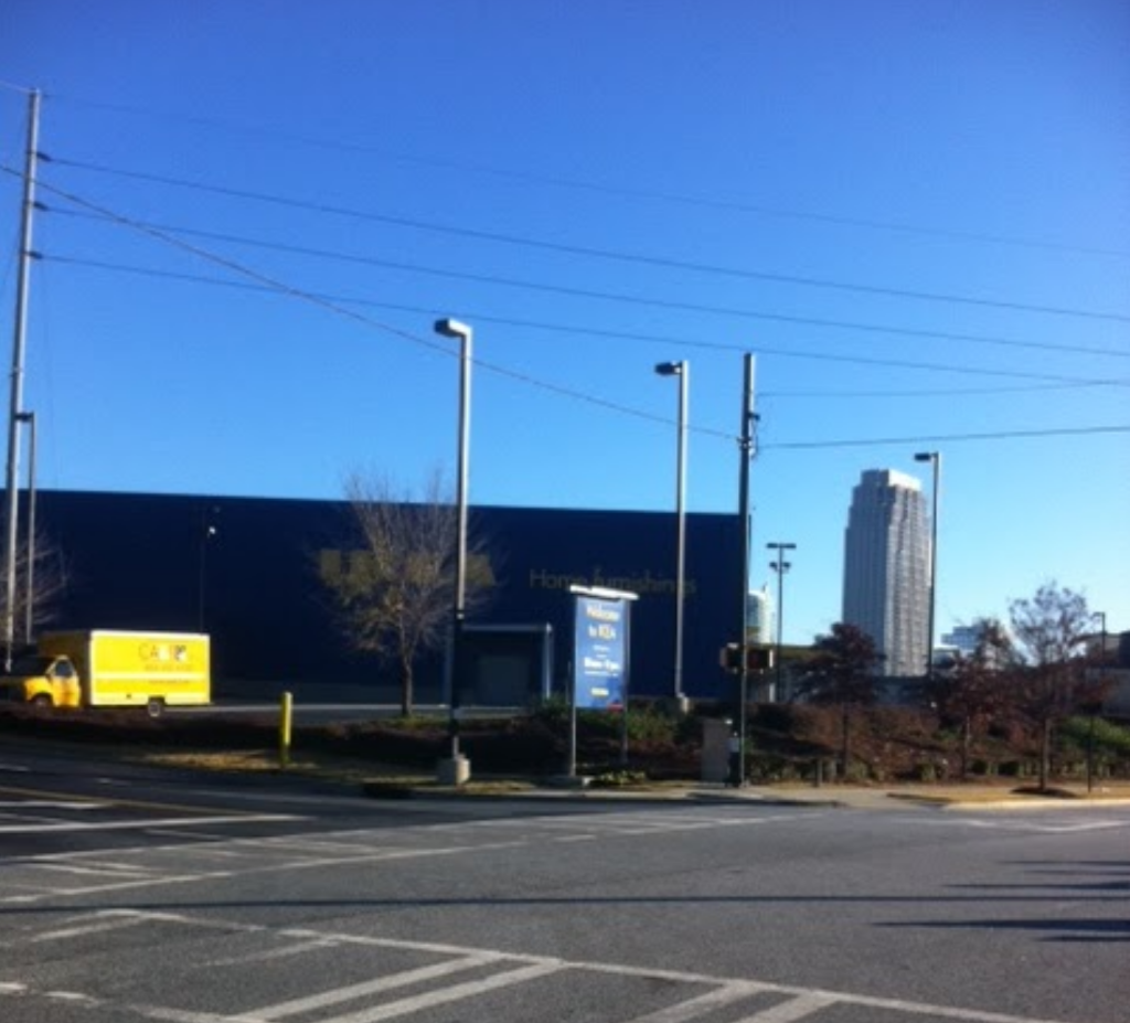 Passing IKEA, always a favorite place to go! ( another photo from 2 years ago)