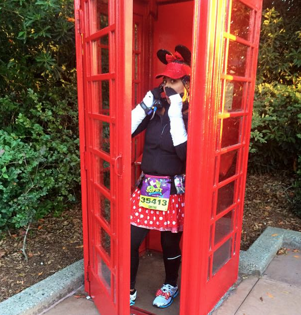 London's iconic telephone booth. How I wished it was a TARDIS instead!