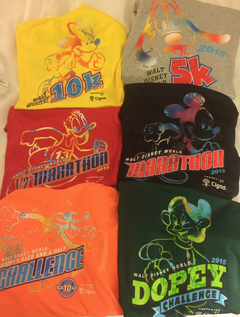 4 races, 6 shirts (6 medals to follow)