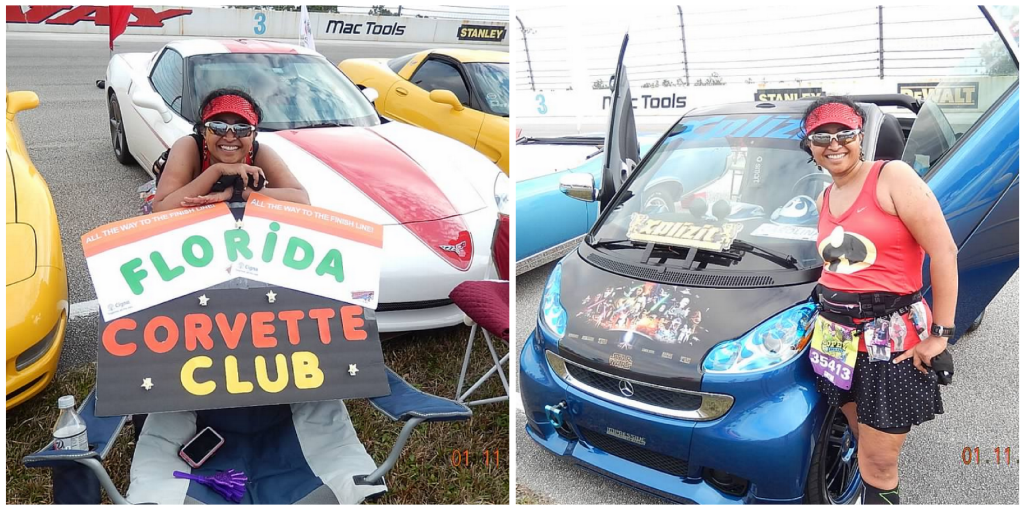The Florida Corvette club had come out to support with all their cool cars.