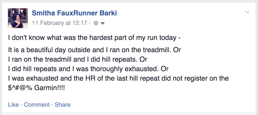 Hill Repeats on treadmill