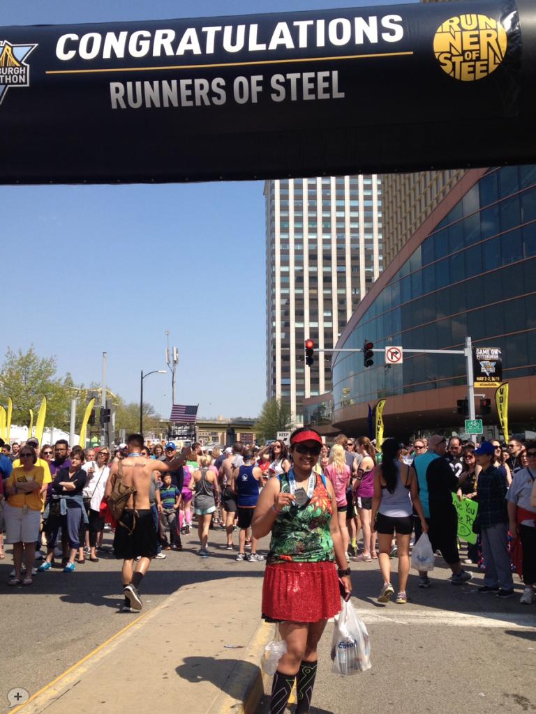 Finish - Pittsburg Half Marathon