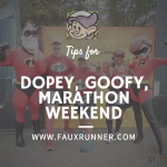 Tips for a Great Dopey, Goofy and the Disney Marathon