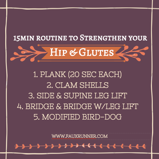 In Marathon/Tri Training Season and just starting out on your strength training routine? I started with these 5 Simple Exercises to Strengthen Hips and Glutes.