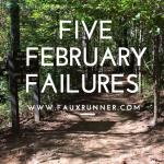 Friday Five: Goals that I've fallen Short of