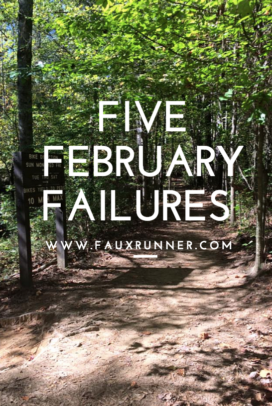 Friday Five: Goals that I've fallen Short of