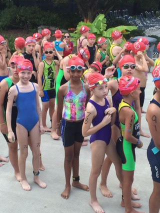 PeachKids Triathlon - Swim Start