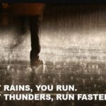 A Cleansing Run in a Thunderstorm