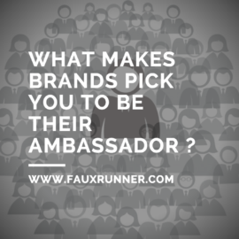 What makes brands pick you to be their ambassador?