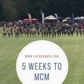 Picking up from a scrappy week – 5 Weeks to MCM