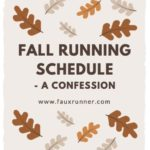 Fall Racing Schedule – A confession