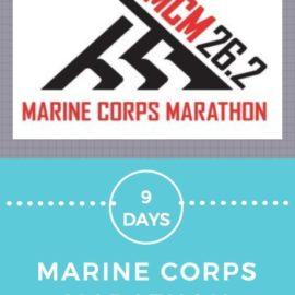 9 Days to Marine Corps Marathon