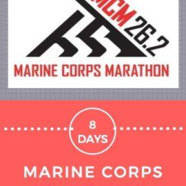 8 Days to Marine Corps Marathon – What if I fly