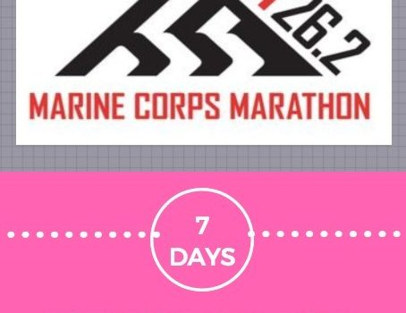 7 Days to Marine Corps Marathon